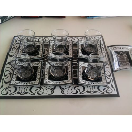 14 pcs tea set with tray