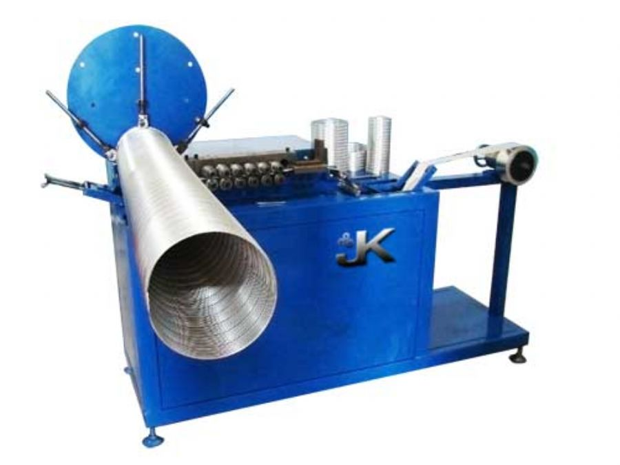 Aluminum corrugated duct machine