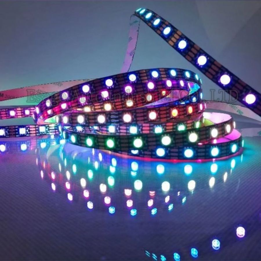 Waterproof LED Strip Light Bedroom String Lights Car LED Strip Light 5050 RGB 5M 300 LEDs Strip
