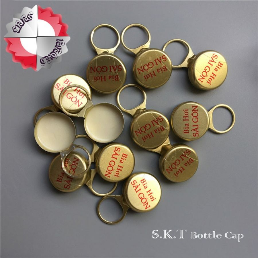 Aluminum Closure pull ring aluminum cap for juice drink glass bottle