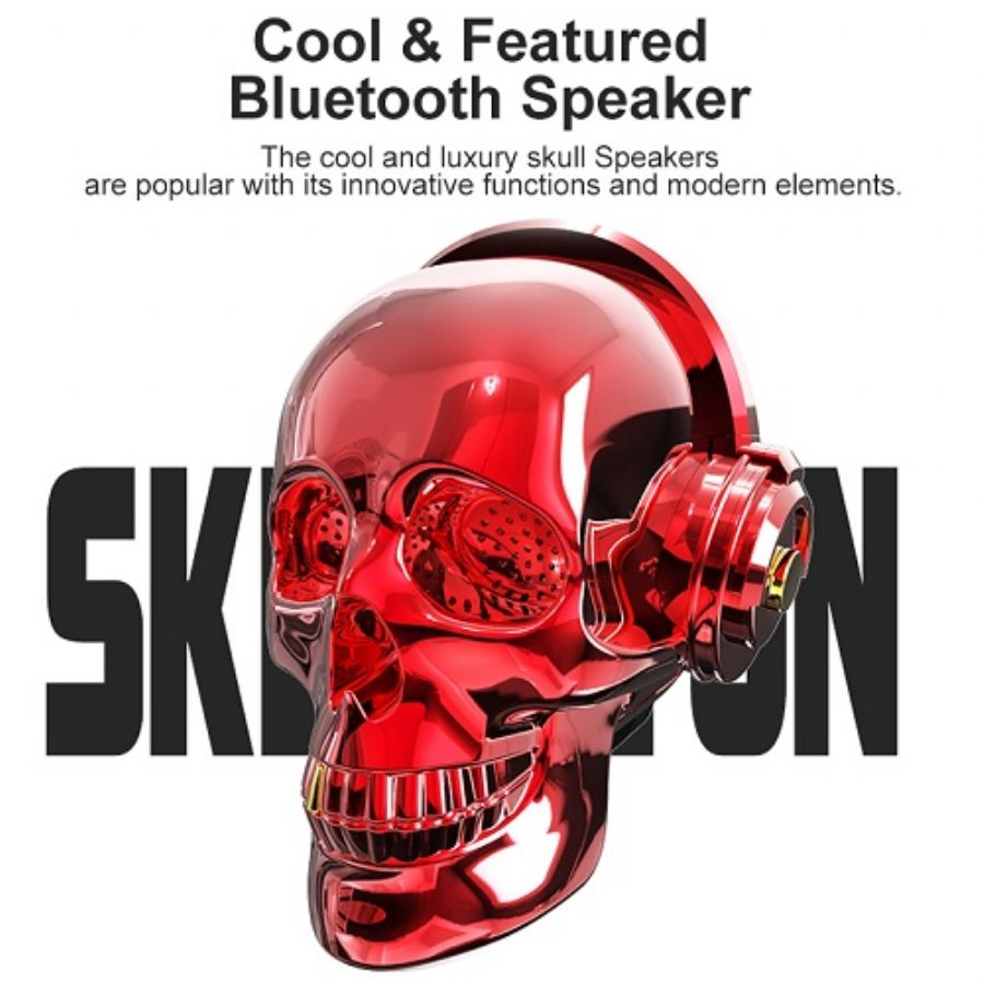 OneDer V7 Cool & Featured HIFI Bass Skull Wireless Bluetooth Speaker